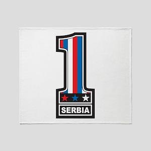 Number One Serbia Throw Blanket