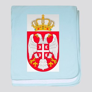 Serbia Coat Of Arms baby blanket