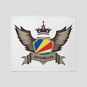 Seychelles Emblem Throw Blanket