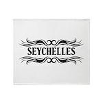Tribal Seychelles Throw Blanket