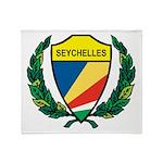 Stylized Seychelles Throw Blanket