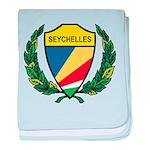 Stylized Seychelles baby blanket