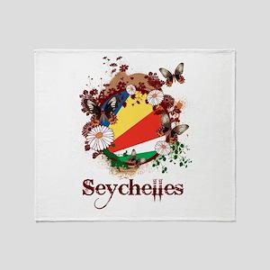 Butterfly Seychelles Throw Blanket