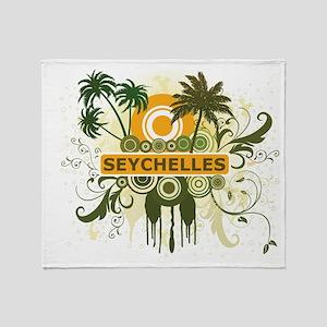 Stylish Seychelles Throw Blanket