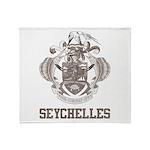 Vintage Seychelles Throw Blanket