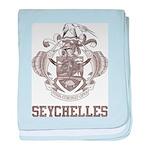 Vintage Seychelles baby blanket