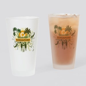 Palm Tree Singapore Pint Glass