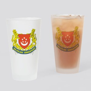 Singapore Coat Of Arms Pint Glass