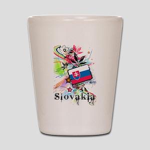 Flower Slovakia Shot Glass