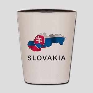Map Of Slovakia Shot Glass