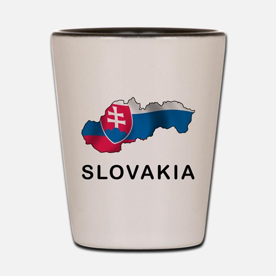 Map Of Slovakia Shot Glass