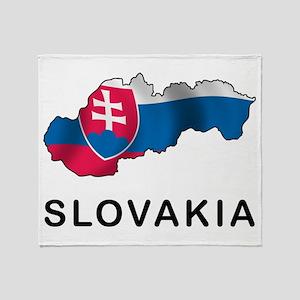 Map Of Slovakia Throw Blanket