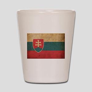 Vintage Slovakia Flag Shot Glass