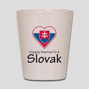 Happily Married Slovak Shot Glass
