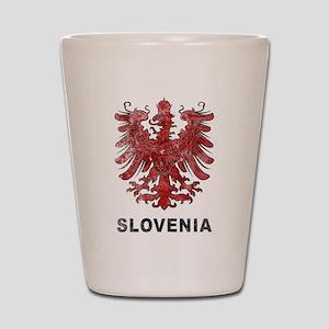 Vintage Slovenia Eagle Shot Glass