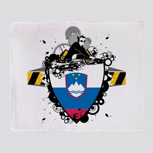 Deejay In Slovenia Throw Blanket