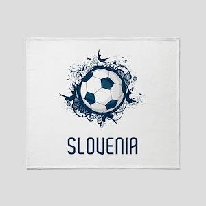 Slovenia Football Throw Blanket