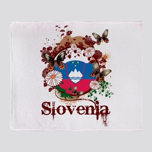 Butterfly Slovenia Throw Blanket