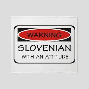 Attitude Slovenian Throw Blanket