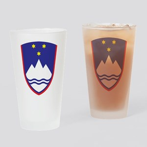 Slovenia Coat Of Arms Pint Glass
