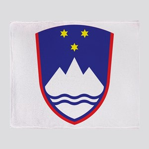 Slovenia Coat Of Arms Throw Blanket