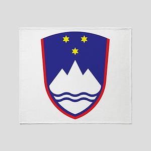 Slovenia Coat Of Arms Throw Blanket