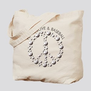 Love Peace Baseball Tote Bag