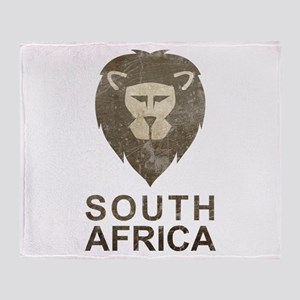Vintage South Africa Throw Blanket