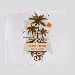 Cape Town South Africa Throw Blanket