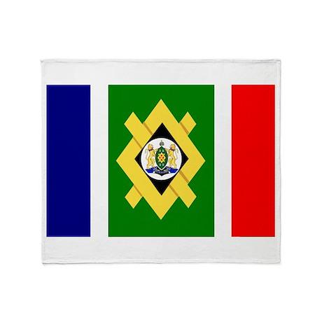 Johannesburg Flag Throw Blanket