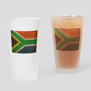 Vintage South Africa Flag Pint Glass