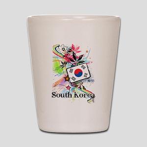 Flower South Korea Shot Glass
