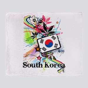 Flower South Korea Throw Blanket