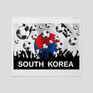South Korea Football Throw Blanket
