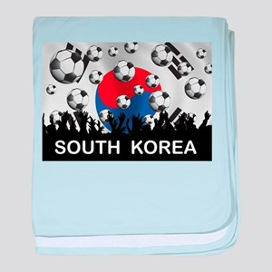 South Korea Football baby blanket