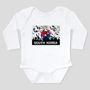 South Korea Football Long Sleeve Infant Bodysuit