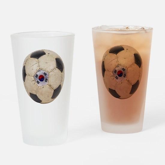 South Korea Football Pint Glass