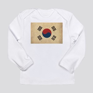 Vintage South Korea Flag Long Sleeve Infant T-Shir