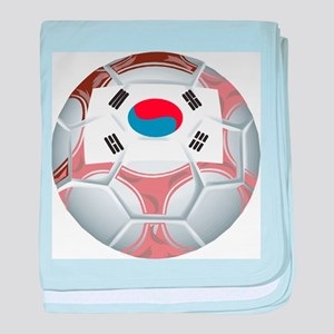 South Korea Soccer baby blanket