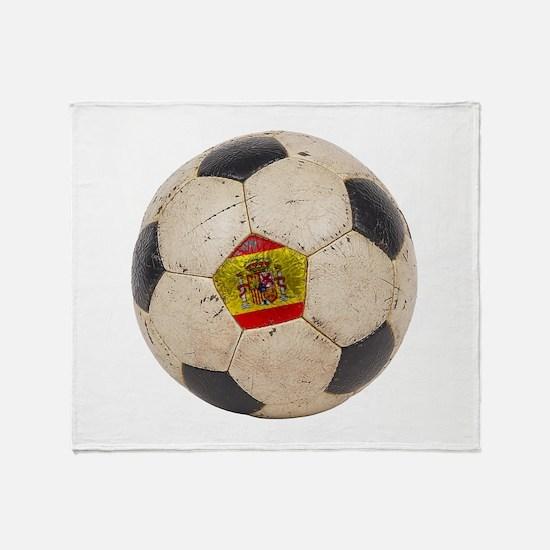 Spain Football Throw Blanket