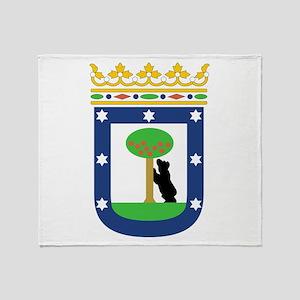 Madrid Coat Of Arms Throw Blanket