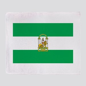Andalucia Flag Throw Blanket