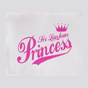 Sri Lankan Princess Throw Blanket