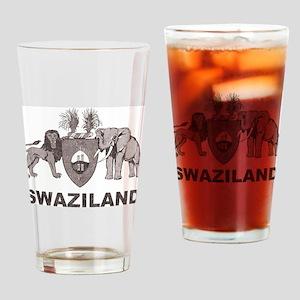 Retro Palm Tree Swaziland Pint Glass