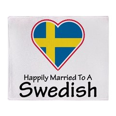 Happily Married Swedish Throw Blanket