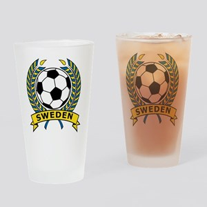 Soccer Sweden Pint Glass