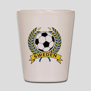 Soccer Sweden Shot Glass