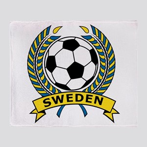 Soccer Sweden Throw Blanket