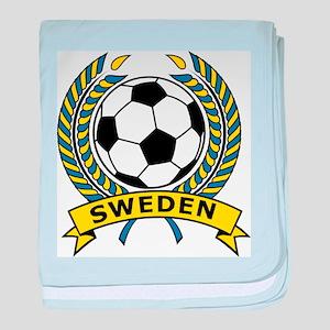 Soccer Sweden baby blanket