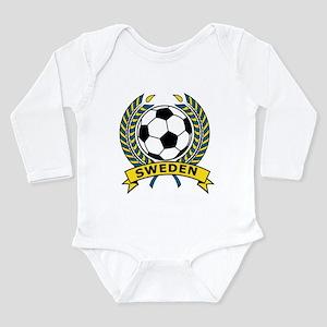 Soccer Sweden Long Sleeve Infant Bodysuit